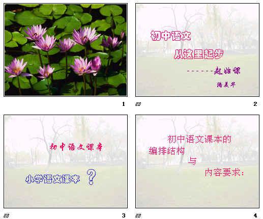 初中语文起始课ppt