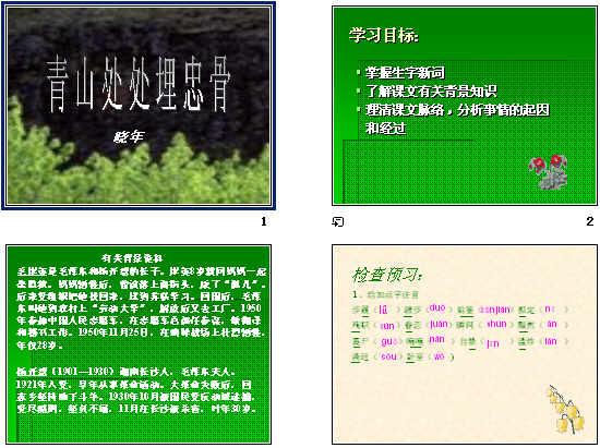 青山处处埋忠骨课件 课件图片 动态课件背景图片 课件模板