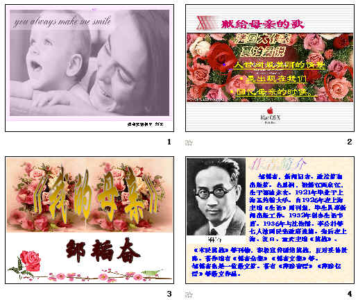 我的母亲(邹韬奋)ppt6苏教版编写_情况备课教案图片