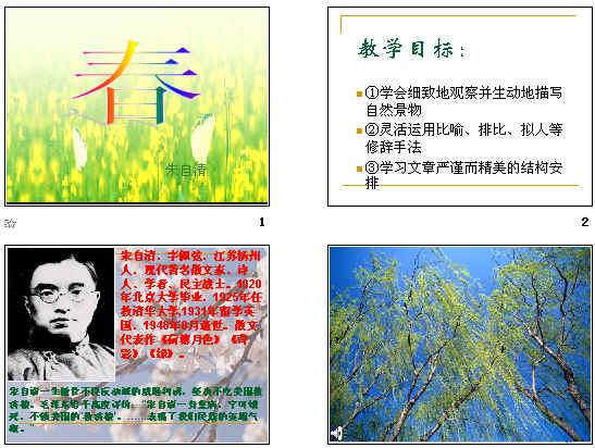 朱自清春花图手绘画