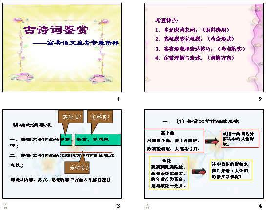 高考复习古诗词鉴赏ppt13