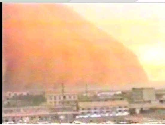 敬畏自然 沙尘暴 视频素材