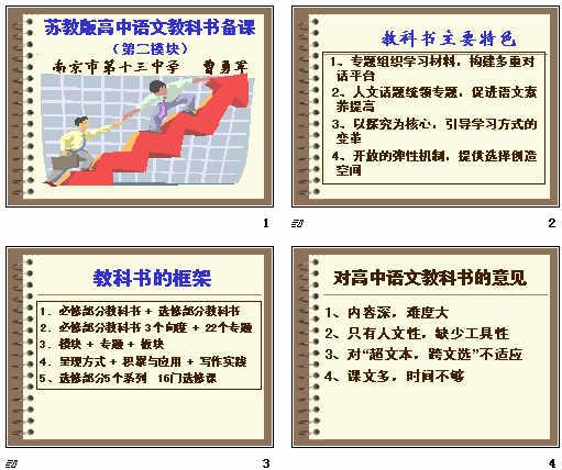 苏教版高中语文教科书备课(第二模块)ppt
