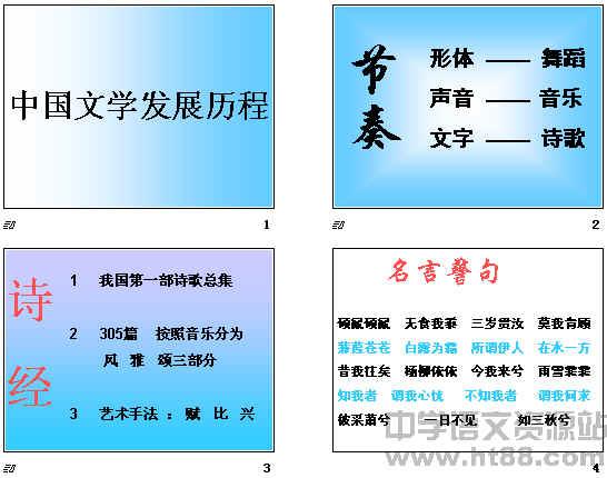 中国文学发展历程ppt