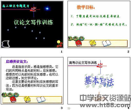 高三语文专题复习议论文写作训练ppt