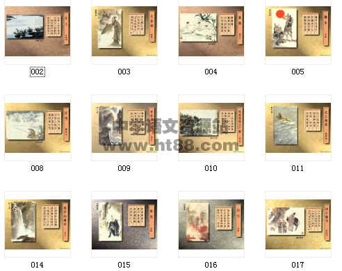 古代诗歌配画,是制作课件的好素材图片,共60张.