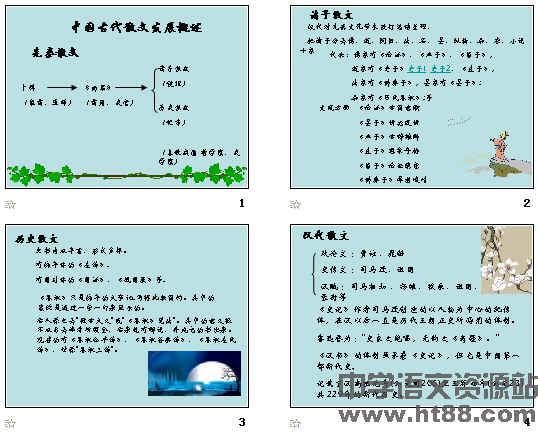 中国古代散文发展脉络