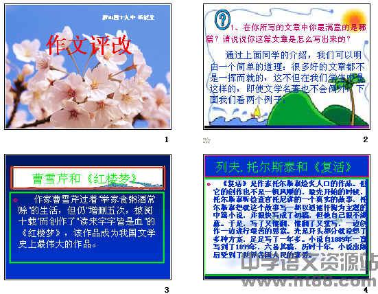 初中语文中考复习课件 中考作文技巧指导与训练