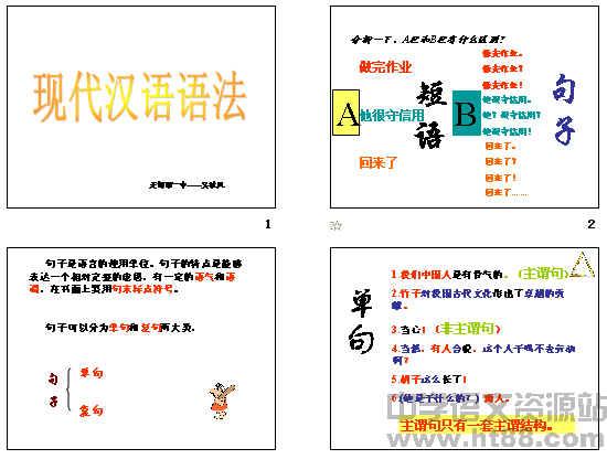 现代汉语语法:句子成分