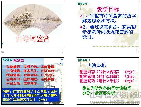 中考复习古诗词鉴赏ppt7
