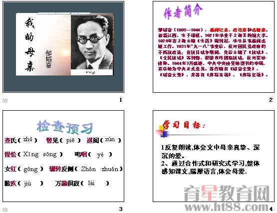 我的母亲(邹韬奋)ppt30苏教版小学教案照镜子科学图片