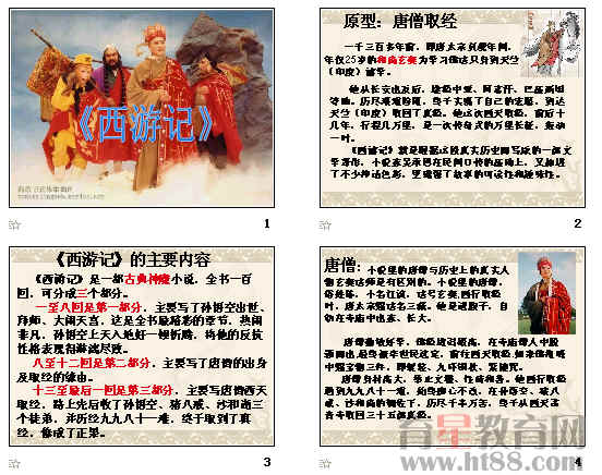 西游记人物形象分析ppt 人教课标版