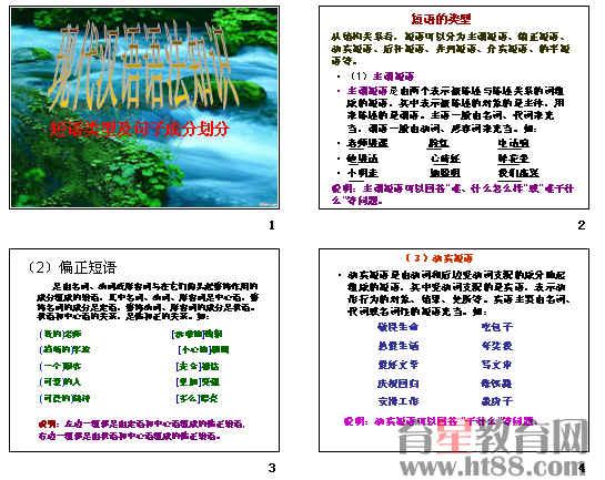 现代汉语语法知识:短语类型及句子成分划分ppt