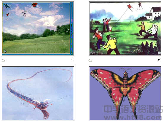 展示多张风筝图片,介绍鲁迅,检查预习,整体感悟,问题探究,抢答问题
