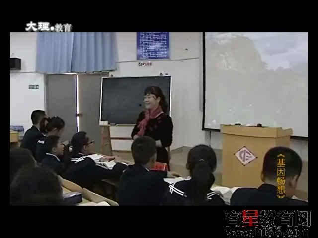 大理州2012年初中语文课堂教学竞赛《基因畅想》视频课堂实录