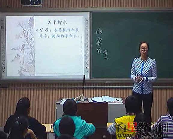 2014年郑州市中学语文优质课雨霖铃视频课堂实录14