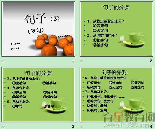现代汉语语法(7):句子(复句)ppt