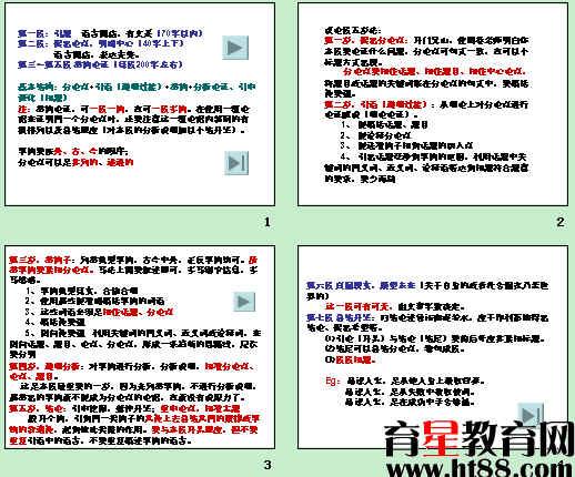 议论性散文开头_高考议论性文章写作结构——七段式ppt人教课标版