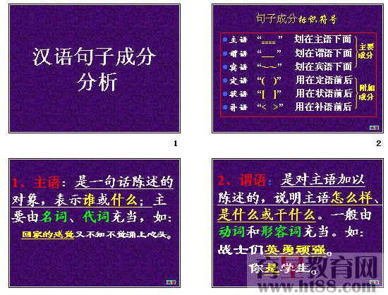 中考语文汉语句子成分分析ppt