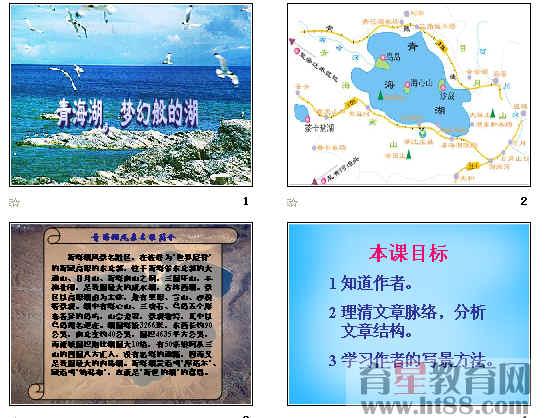 介绍青海湖,作者简介,字词积累,理清思路,思考问题,图示内容,练习与